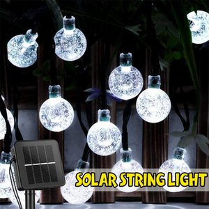 Solar Lamps 6.5m String Lights Outdoor Lighting 30 Led Crystal Globe With 8 Modes Patio Christmas Decoration