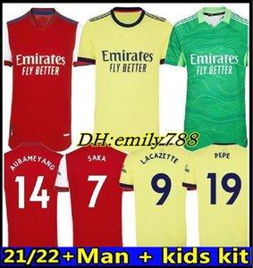 Arsen Soccer Jersey 424 21 22 Pepe Nicolas Ceballos Henry Guendouzi Sokratis Mailes-Niles Tierney 2021 2022 كرة القدم قميص الرجال.