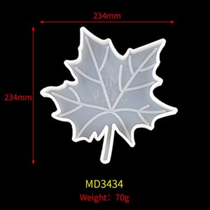 DIY Arts manual leaf coaster Christmas series crystal drop mold silicone resin maple Craft Tools wholesale CCF6560