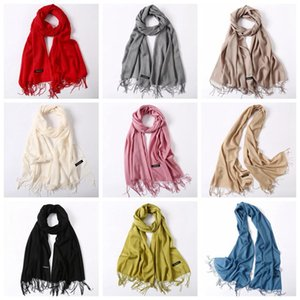 Colors Women Solid Color Cashmere Scarves With Tassel Lady Winter Autumn Long Scarf Thinker Warm Female Shawl Men Neck