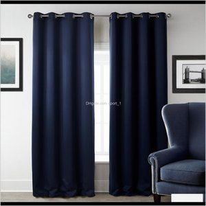 Treatments Textiles Garden Drop Delivery 2021 Modern Blackout Living Room Window Curtains For Bedroom Curtain Fabrics Ready Made Finished Dra