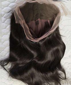 High QuityOnLine Achetation longue longue perruque humaine et dentelle avec poils bébé cheveux naturels, nœuds blanchis pré-pincés
