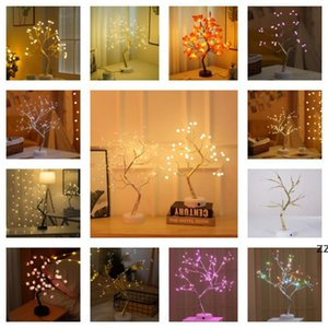 copper wire led pearl tree gypsophila touch creatives gifts stars snowflakes lights bedroom Christmas decoration USB night HWB10393