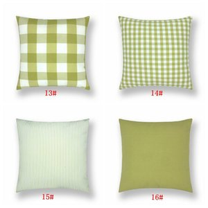 16styles Plaid Cushions Cover Throw Pillow Covers Check Pillows Case Decor Office Car Home Sofa Decoration Spandex Pillowcase DBC BH3256