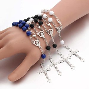 Charm Bracelets 4 Colours Vintage 8mm Beads Religious Jewelry Accessories Fashion Anniversary Gifts For Unisex