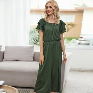pants Elegant Green Slash Neck Summer Women One Piece Loose Casual Female Overalls Clothing Jumpsuits