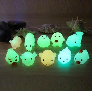 Leuchtendes squeeze spielzeug niedlich haustier dichtung tier kneipen edruck richtung stress geschenke kawaii stil farbe zufällig dlh315