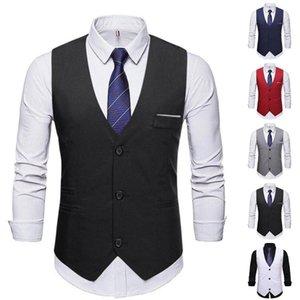 Men's Vests Men Formal Business Wedding Waistcoat Slim Fit Vest Suit Tuxedo Tops
