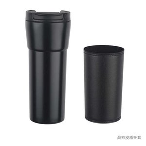 New Japanese Starbuck leather coffee cup stainless steel vacuum insulation Cup business gift straight cupHAKD