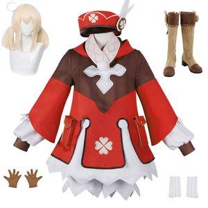 게임 Genshin Impact Klee Dress Cosplay Costume Uniform Suit 할로윈 파티 복장