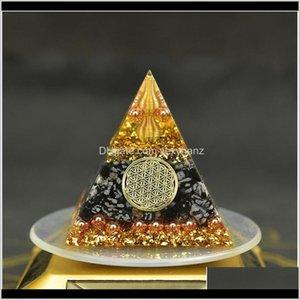 Rock Crystal Quartz Reiki Orgonite Energy Orgon Pyramid Gathering Fortune Helping Soothe The Soul Chakra Resin Decorative Craft Jewe Q Trrvn