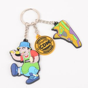 3d Cartoon Pvc Soft Rubber Key Ring Silicone Pendant Gift Can Be Printed