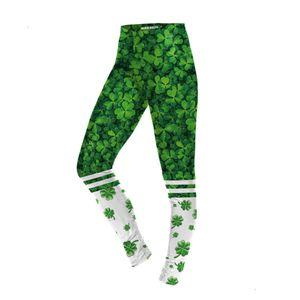 Capris & Women's Bt Pants selling leaf digital printed sweatpants St. Patrick's Day lucky grass Leggings