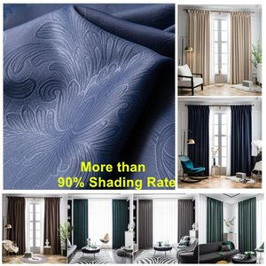 Curtain & Drapes Modern E-carving Beige Blackout Window Curtains For Bedroom Treatment Living Room Blinds Ready Made Drapers Shading On Kitc