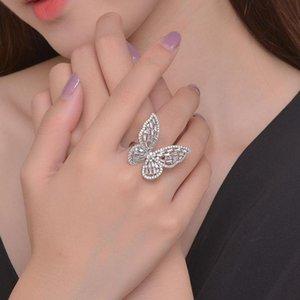 Anelli a cluster regolabili insetto a farfalla anello per le donne gioielli di lusso coreano insolito colore oro gioielli moda regalo KBR473
