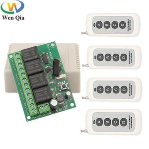433Mhz Universal Wireless Remote Control 500m Switch DC 6V12V24V30V 4CH Relay With Receiver Module Transmitter For Motor Garage Controlers