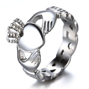 Classic Northern Ireland Style Claddagh Heart Ring Beautiful Bride's Engagement Wedding Jewelry