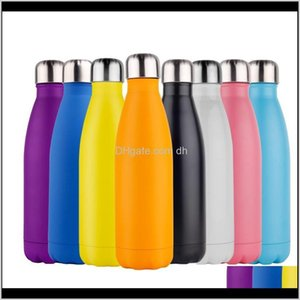 Drinkware Kitchen Dining Bar Home Garden Drop Delivery 2021 Double Walled Insulated Water Bottle Cup Cola Shape Stainless Steel 500Ml Sport V