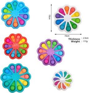 TikTok Pop It Fidget Toys Finger Bubble Press Relief Fingertip Toy Stress Educational Kids Baby Gift Squeeze Sensor DHL free