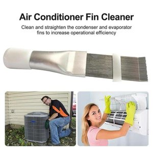 Portable Stainless Steel Air Conditioner Fin Repair Comb Accessory For Condenser Cleaning Brush Tool