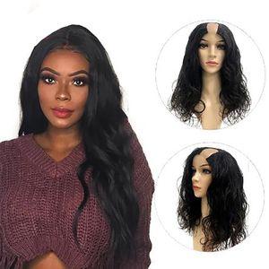 Натуральные волнистые Малайзийские Реми Человеческие волосы U Чрезмерные парики 150% Достигаемое Полный станок