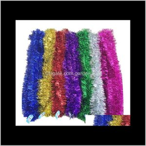 2M Colorful Christmas Tree Decorations Ribbon Tops Garland Encryption Trees Decoration Ribbons Artificial Hanging Ornaments 77 Gdvke Cpbci