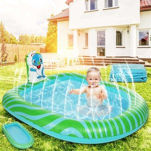 173x105x20cm Inflatable Swimming Pool Children Bathing Tub Summer Kids Home Outdoor Fun Large Playing Pool PVC Material Safe X0710