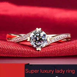 High Quality Fashion 925 Silver 3 Zircon Ring Style Ladies Adjustable Wedding Engagement Jewelry Gift Cluster Rings