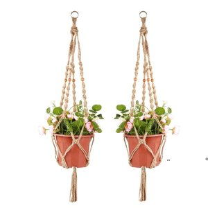 Plant Hangers Macrame Rope Pots Holder Ropes Wall Hanging Planter Hanger Basket Plants Holders Indoor Flowerpot Baskets Lifting FWE5874