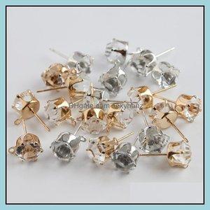 Stick Earrings Jewelry# 6 # 8 Bare Ear Hanging Solar Claw Earring Jaw Diamond Zircon Diy Handmade Jewelry Aessories Drop Delivery 2021 Tvihm