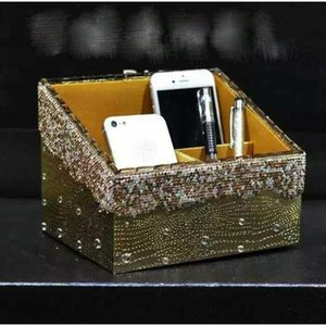 Car Organizer Diamond Desktop Storage Box Fashion Creative Boxes For Home Multi-functional