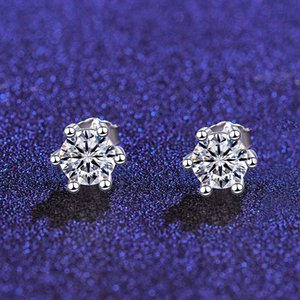 s925 sterling silver classic diamond earrings with zircon shiny Earring Back for women gifts