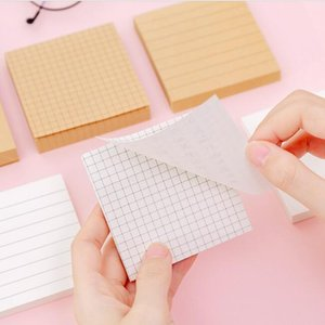 Blank Horizontal Grid Memo Pads Sticky Notes Simple Scrapbook Sticker Notepads School Supplies Message Office Stationery