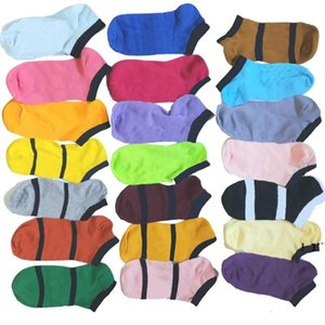 Ankle Socks Black Pink Green Sock Without Tags Sports Cotton Socks Slippers Anklet Girls Sexy Hosiery Short Sock Summer Ship EWD6325