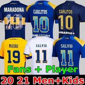 Fan Player Version 20 21 Boca Juniors Soccer Jersey Carlitos Maradona Tevez de Rossi 2021Third Home Away 3a 4a Tailandia Camicia da calcio Uomini e bambini set uniforme