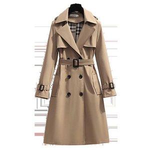 S - 4XL новая весна англия стиль женщины ветровка свободно средняя и длинный элегантный пояс пальто женский повседневная длинная траншея пальто мохеров S0903