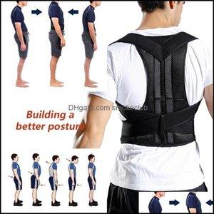 Waist Safety Athletic Outdoor As Sports & Outdoorswaist Support Back Corrector Adjustable Adt Corest Correction Belt Trainer Shoder Lumbar B
