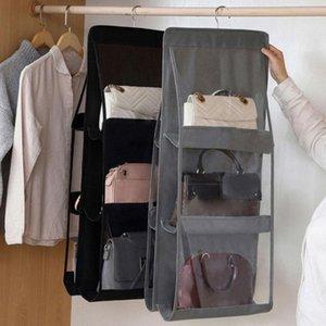 Ящики для хранения BINS Красочные Висячие Сумка Организатор для гардероба Шкаф Прозрачный Дверь Прозрачная Настенная Вешалка Вешалка Сумка Объемная Обувь Y4Z4