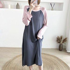 Dresses Autumn New Modal Knee Length Skirt Maternity Postpartum Lactation Garment Bottom Shirt 3968b