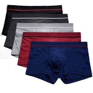Men Underwear Sexy Boxers Cotton Breathable Comfortable Underpants Penis Pouch Male Panties Cueca Tanga Men Shorts