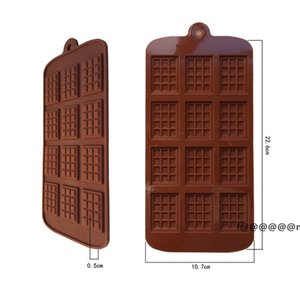 Silicone Mold 12 Even Chocolate Mold Fondant Molds DIY Candy Bar Mould Cake Decoration Tools Kitchen Baking Accessories EWA4828
