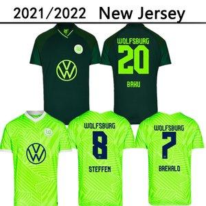 21 22 VFL Home Away Wolfsburg Soccer Jerseys Goghorst Baku 2021 2022 Steffen Brekalo Mehmedi Philipp Biallek Guilavogui Arnold Xaver Gincek Football Shirt