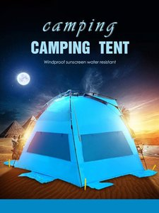 Glamping Tents Outdoor Camping Hiking Family Beach Outdoor Sunshade Camping Inflatable Tent 3~4 Person Fishing Shelter