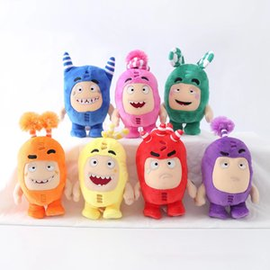 7pcs lot Cartoon Oddbods Anime Plush Toy Treasure of Soldiers Monster Soft Stuffed Fuse Bubbles Zeke Jeff Doll for Kids Gift