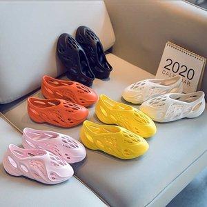 Мальчики Девочки Мода Пляж Летние Сандалии Детские Малыши Маленькие Большие Детские Складки Бегун Легкие Обувь Beam Bignning Y201028