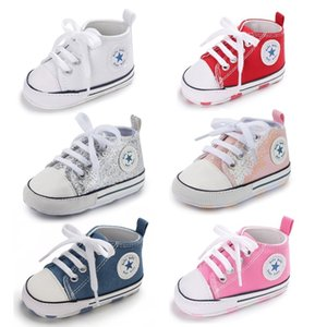 Walking shoes Baby Shoes Young Girl Star Effects Sneaker Katoon Soft Anti Slip Zool born Peuter Casual Canvas Cradle 210827