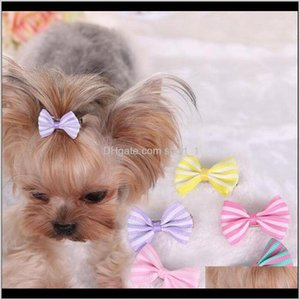 Pet Supplies Home & Garden Drop Delivery 2021 Lovely Handmade Designer Dog Clip Cat Puppy Grooming Bows For Hair Accessories Rhx0H