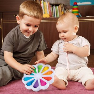 Colorful Simple dimple push pop toys bubble popl Digit popit Fidget Sensory Digits