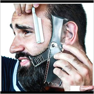 Brushes 5 In 1 Men Shaping Styling Template Rotatable Mens Beards Combs Beauty Tool For Hair Beard Trimming Moustache Comb Oc Cdgge