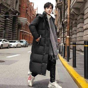 Толстые мужчины зимняя куртка мода с капюшоном х-длинным теплым 90% белая утка пальто высокого качества бренд одежда плюс размер s-5xl индивидуальные стили могут выбрать логотип